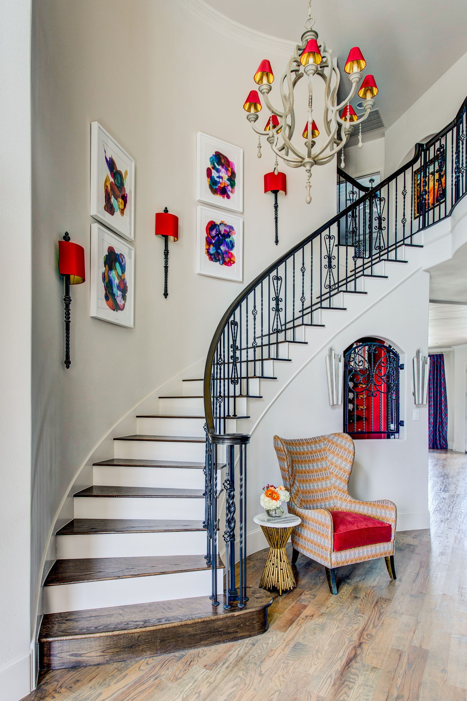 27 Stylish Staircase Decorating Ideas | Stairway ... on Creative Staircase Wall Decorating Ideas  id=26410