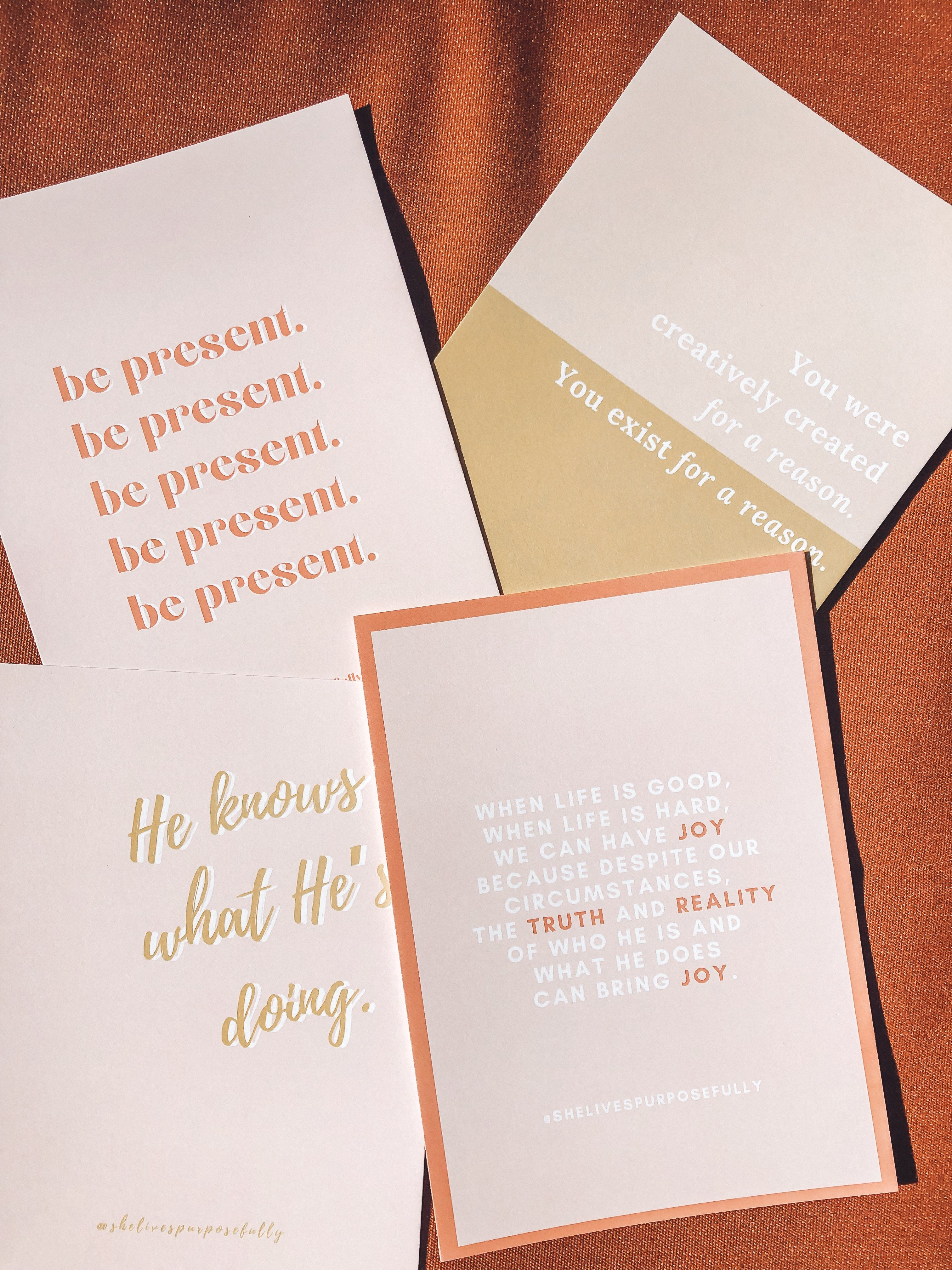 """Our x Wall Art is the perfect thumb-tackable, picture-framable encouragement to """"be present."""