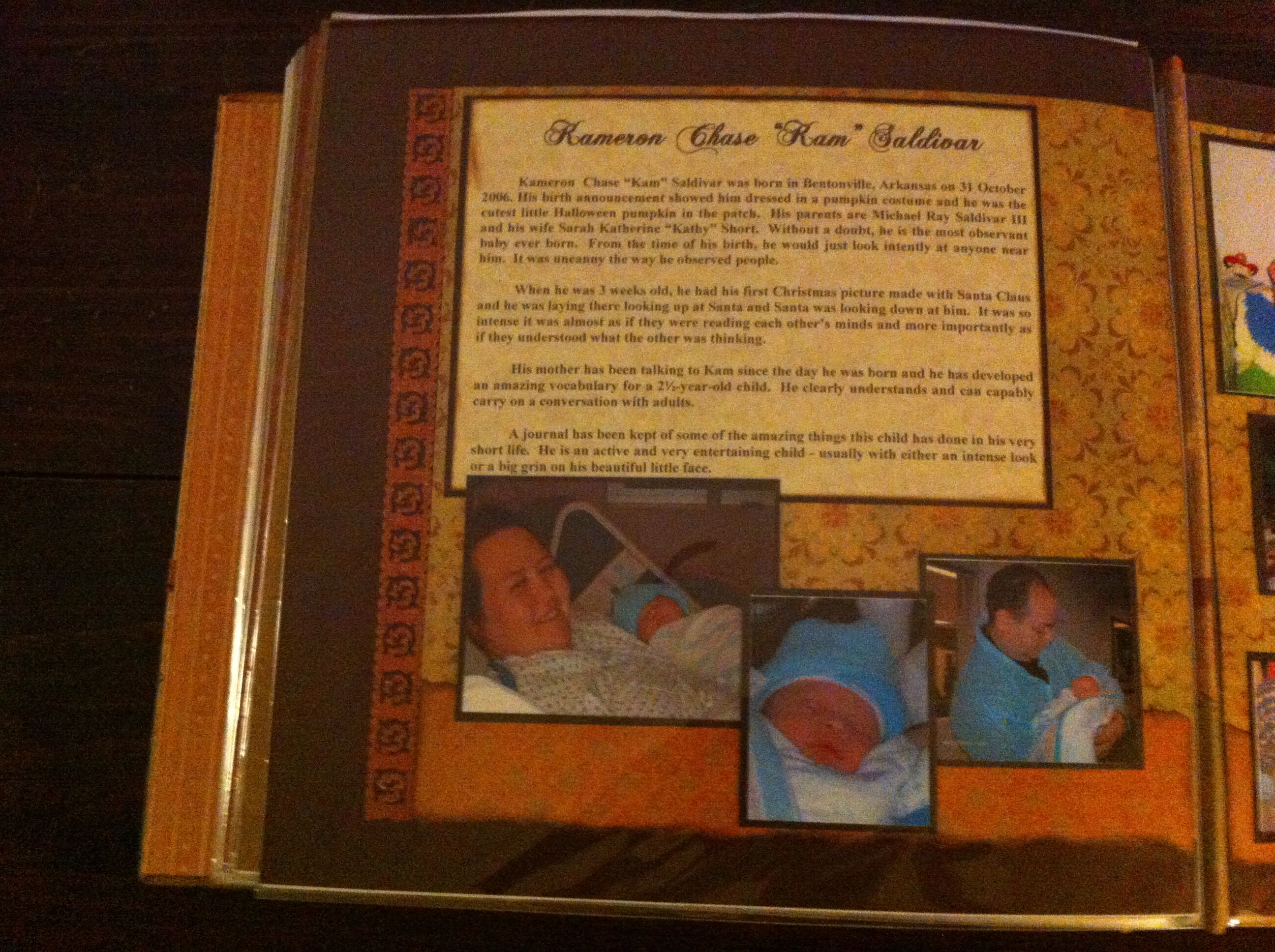 059 Chastain Family Pg 38 Album Embellishments And Papers