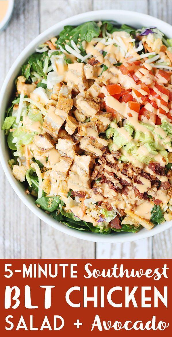 5-Minute Southwest BLT Chicken Salad   Half-Scratched