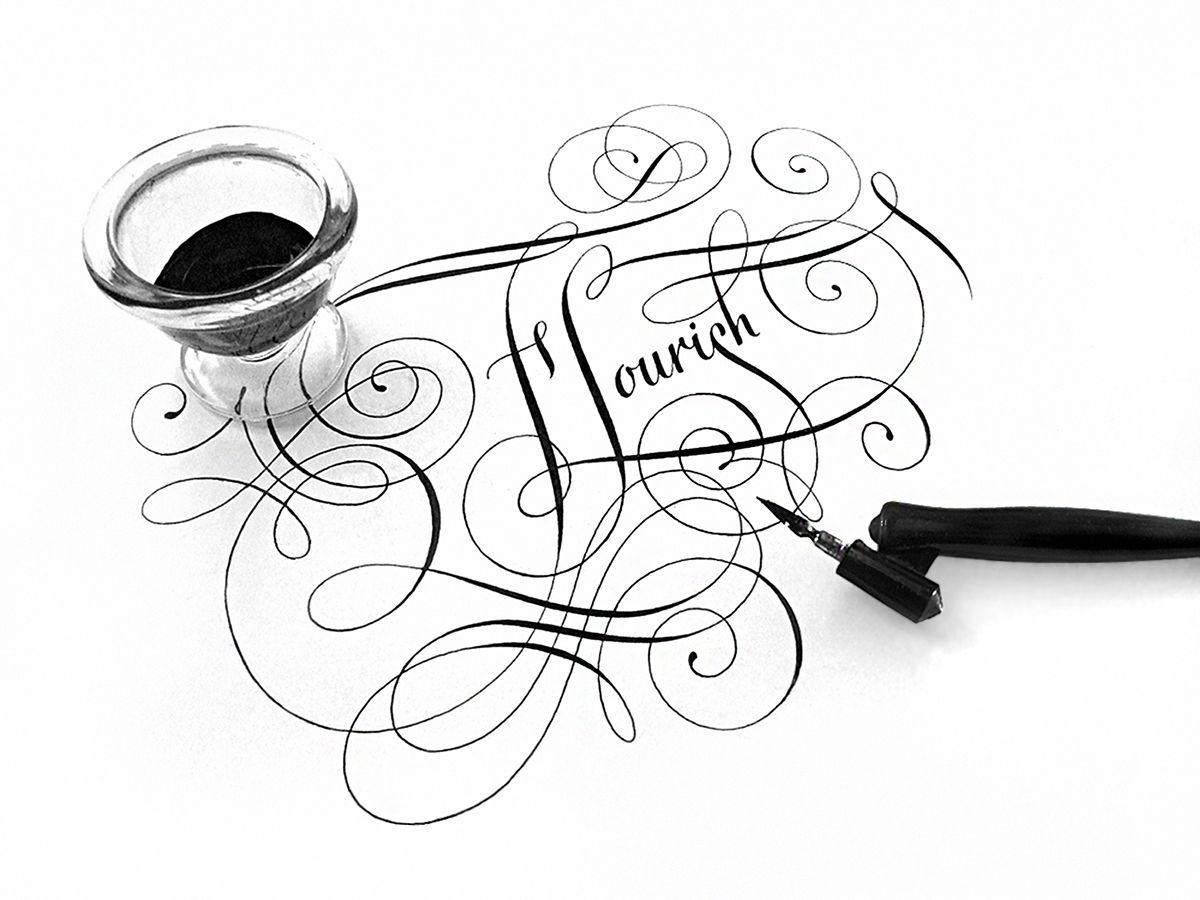 Calligraphy Flourish On Behance
