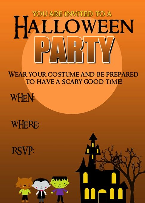 20 crafty days of halloween party invitation printable – Free Printable Halloween Costume Party Invitations