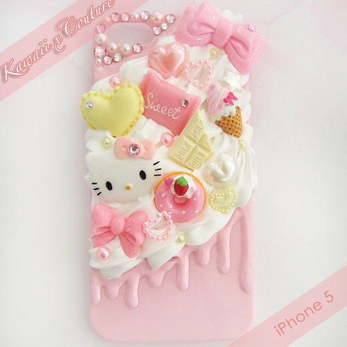cheaper 0bc37 9233e HK Sweets Whipped Cream & Frosting iPhone 5 Decoden Case   $30.00 ...