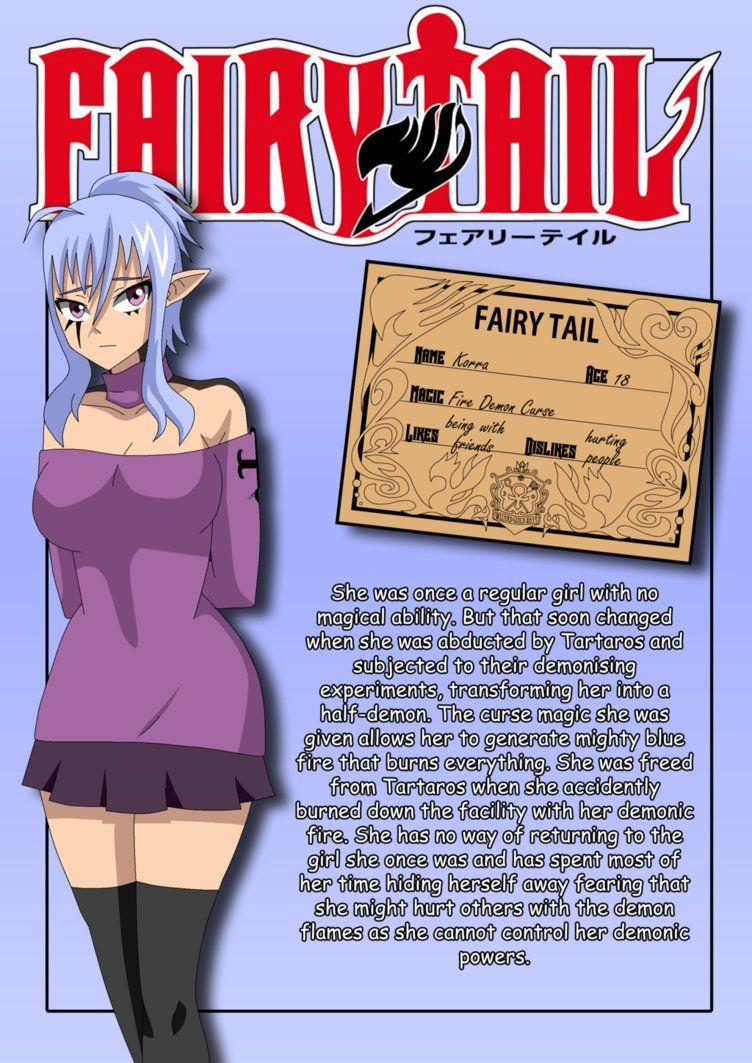 FTOC_Korra_profile by Matt33oc on DeviantArt Fairy tail