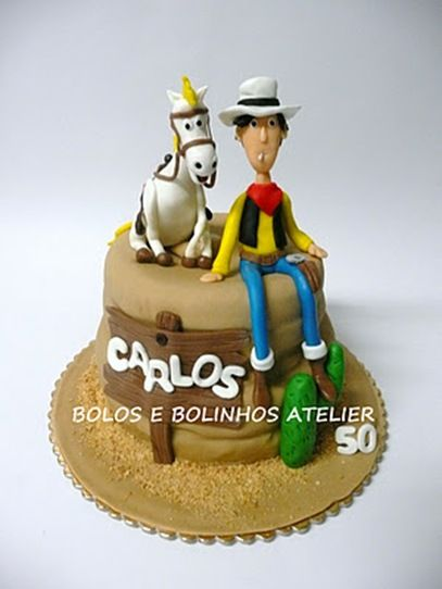 Terrific Lucky Luke Cake Cowboy cakes Cake and Foods