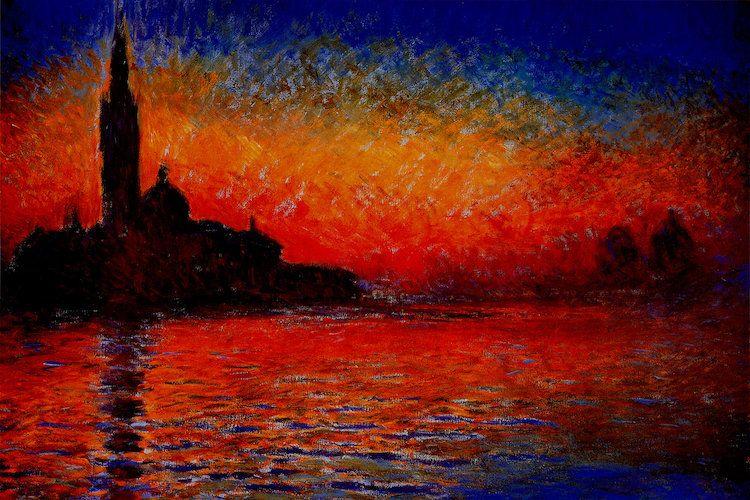 Sunset In Venice Art Print By Claude Monet Monet Art Claude