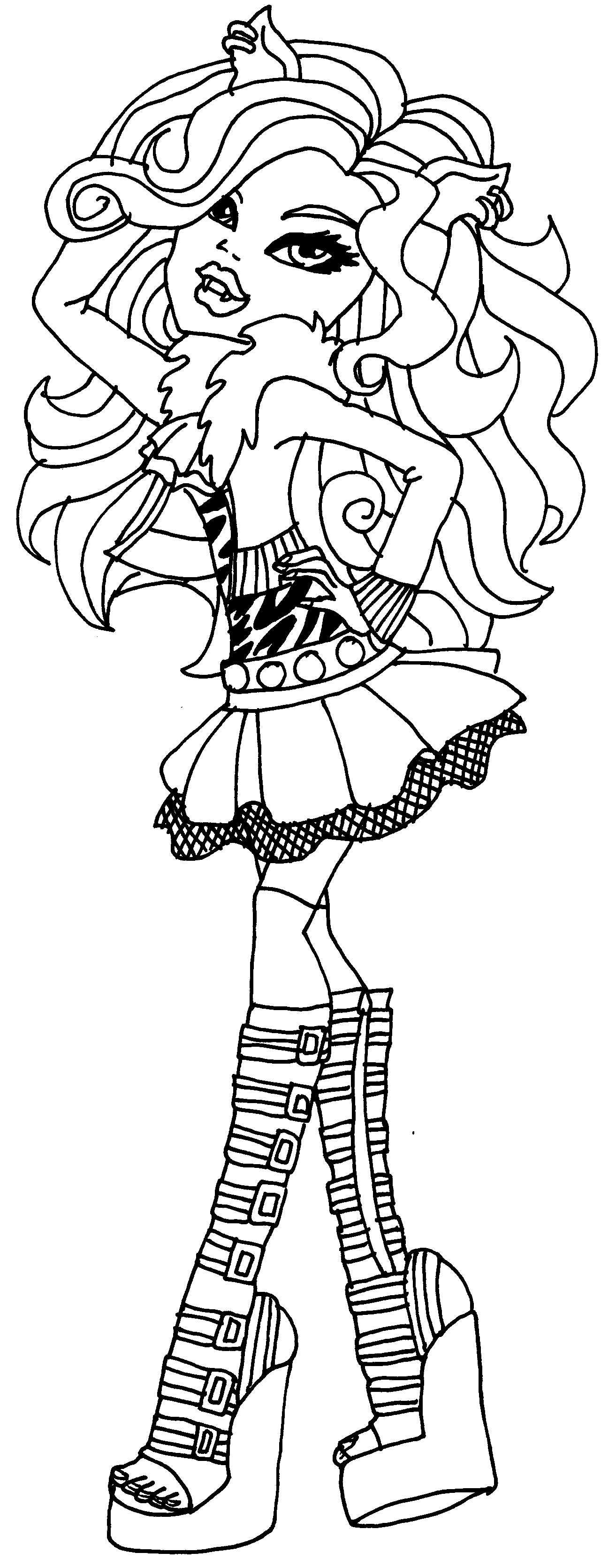 Coloring Pages Clawdeen Coloring Pages monster high clawdeen coloring pages eassume com auromas