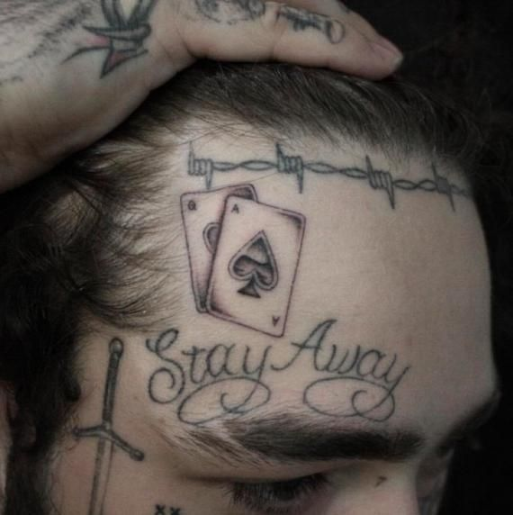 Post Malone Temporary Tattoos 2019 Post Malone Face Tattoos Post Malone Neck Tattoos Post Malone Han #postmalonewallpaper