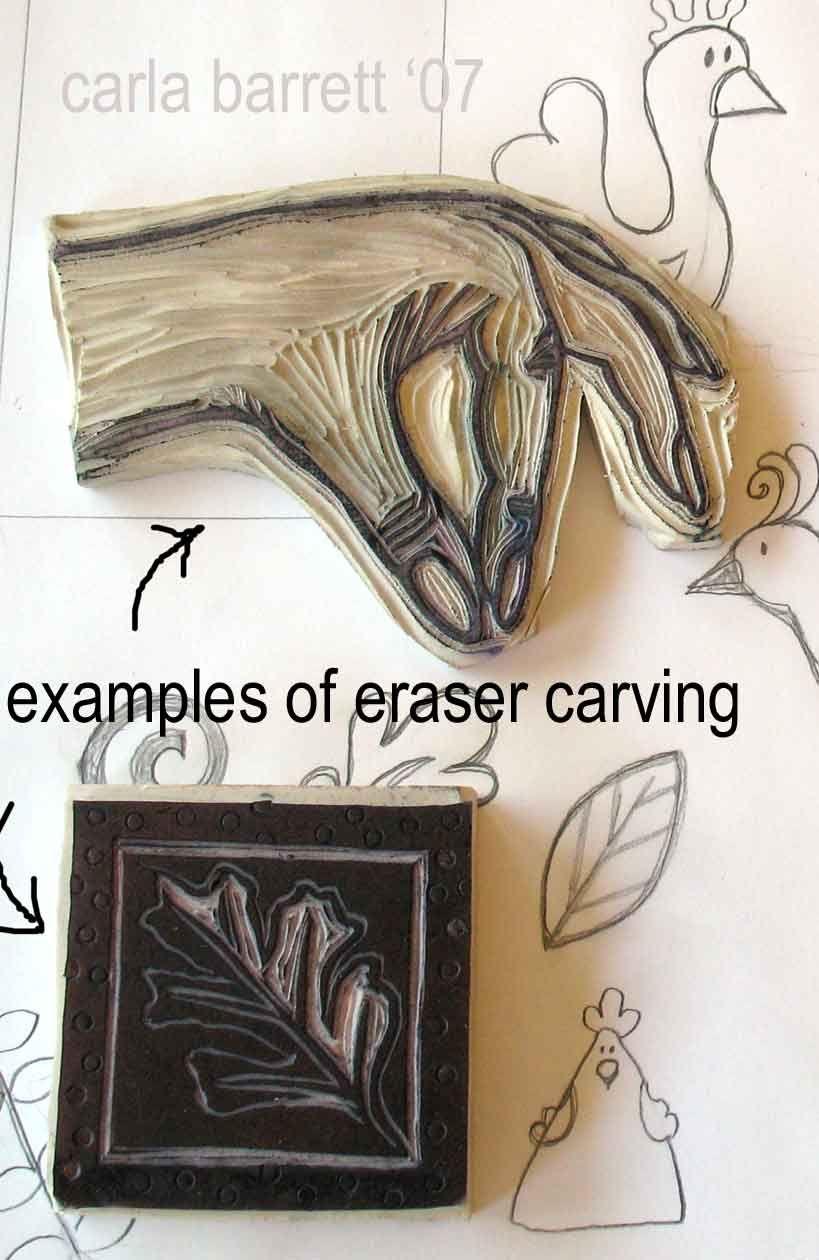 My eraser carving tutorial