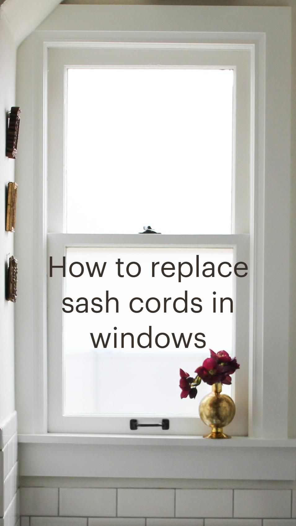 How to replace sash cords in windows