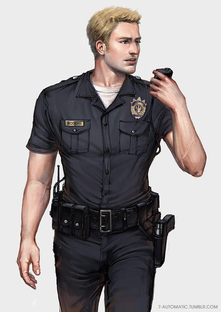 Officer Rogers Police Au Steve Rogers Captain America Character Inspiration Police