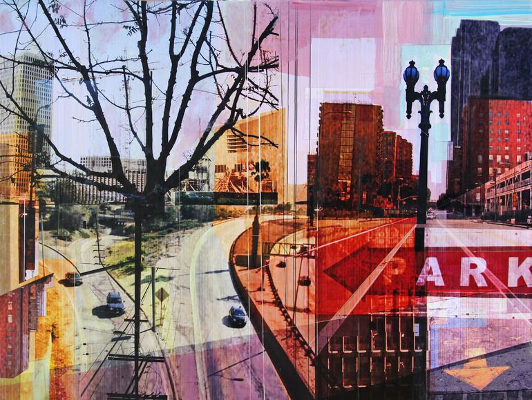 """Saatchi Online Artist: Jon Measures; Assemblage / Collage, 2012, Mixed Media """"""""On The Drive In"""""""""""