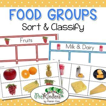 food groups sort classify milk dairy food groups and kindergarten. Black Bedroom Furniture Sets. Home Design Ideas