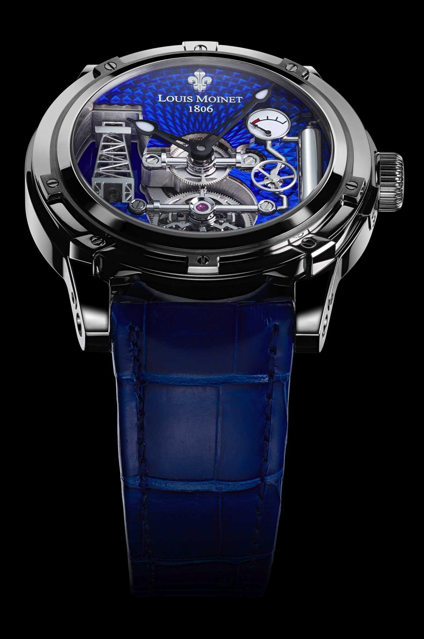 18K white gold - Blue dial - Derrick Gaz - Limited Editions - Louis Moinet