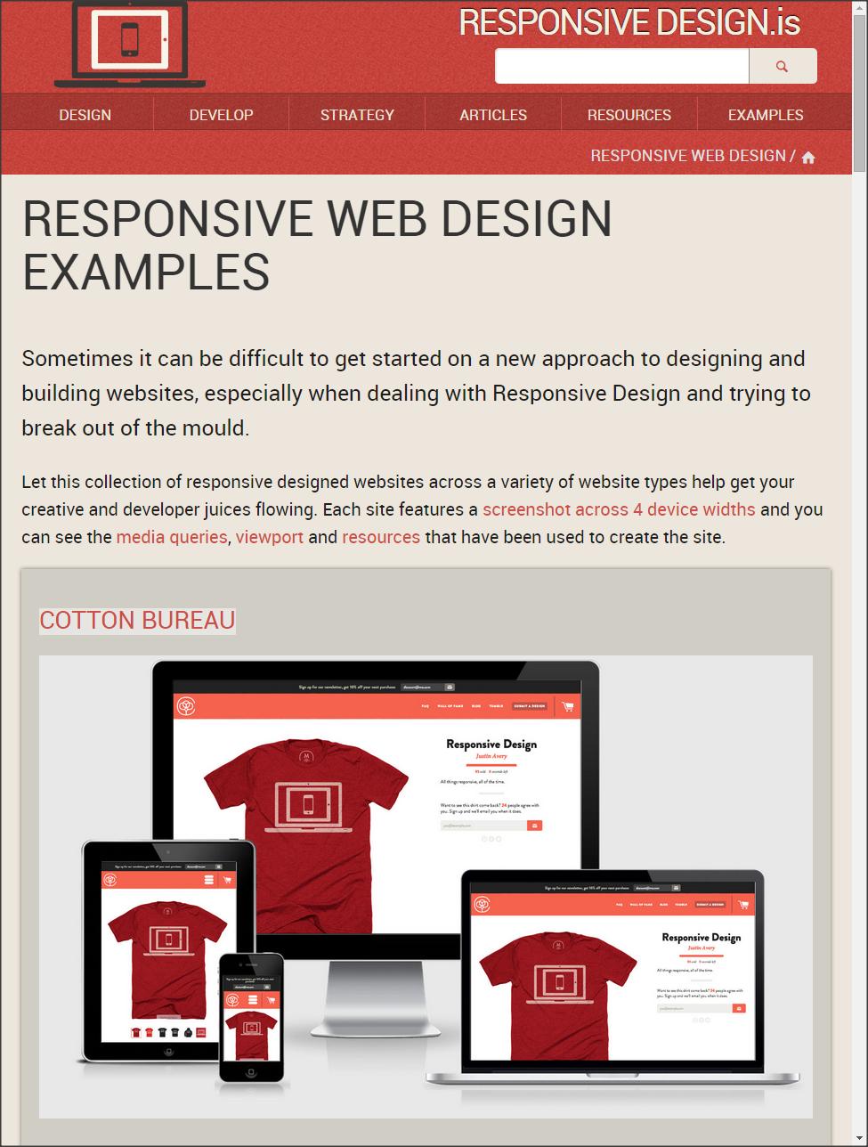 Responsive Web Design Example Sites Responsive Web Design Examples Responsive Web Design Web Design