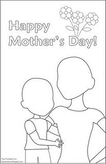 Mother's Day. Color-Your-Own picture. Works perfectly for