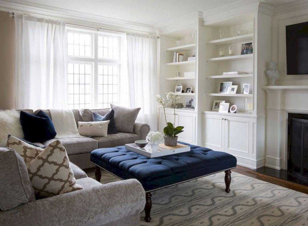 Outstanding 45 Best Beautiful Navy Brown Living Room Ideas Https Freshouz Com 45 Best Beautif Living Room Grey Blue Living Room Elegant Living Room Design