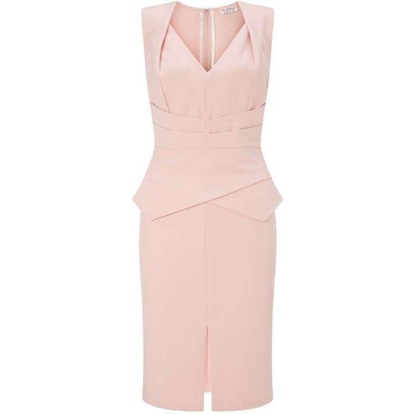 Miss Selfridge Nude Origami Pencil Dress ($30) ❤ liked on Polyvore ...