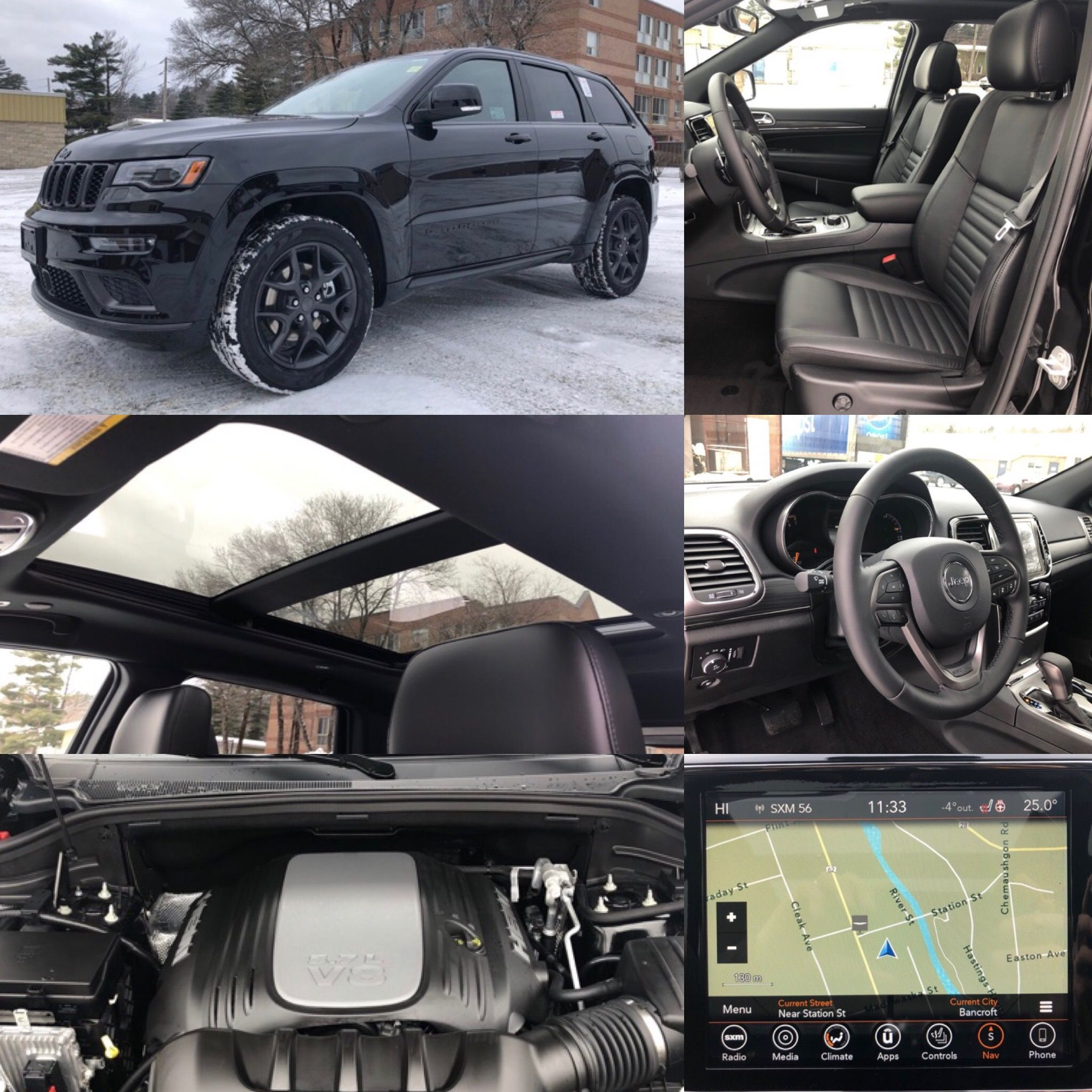 2019 Diamond Black Crystal Jeep Grand Cherokee Limited X 4x4 Hemi Leather Jeep Grand Cherokee Limited Jeep