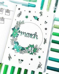 Bullet Journal March Cover Pages You'll Want to Steal!
