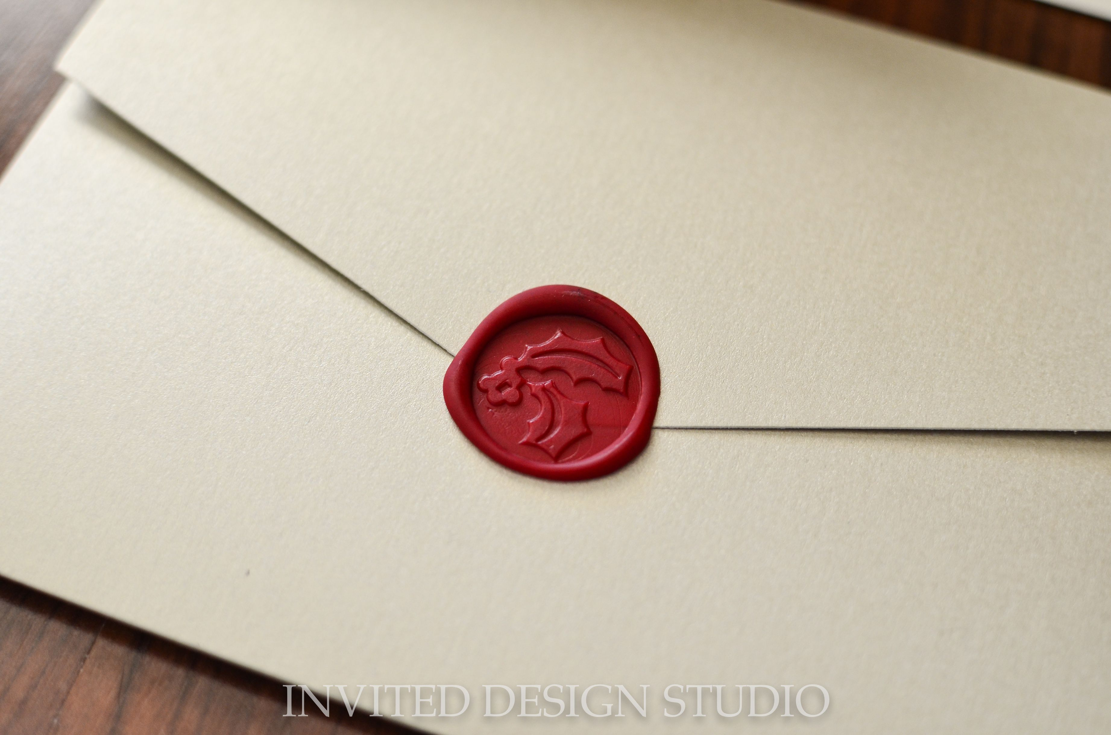 Wax Seals For Wedding Invitations: Wax Seal Wedding Invitation