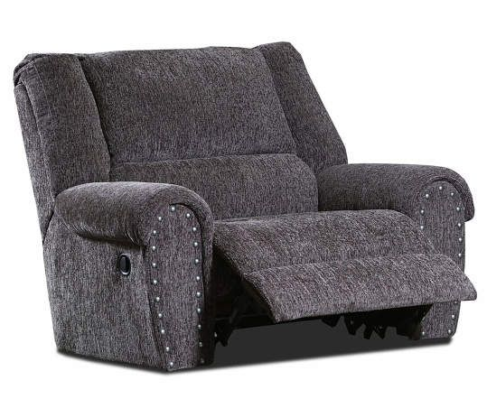 Trent Gray Chenille Recliner With Nailhead Trim In 2020
