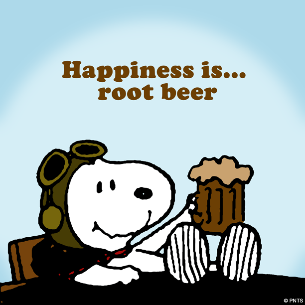 Happiness is root beer