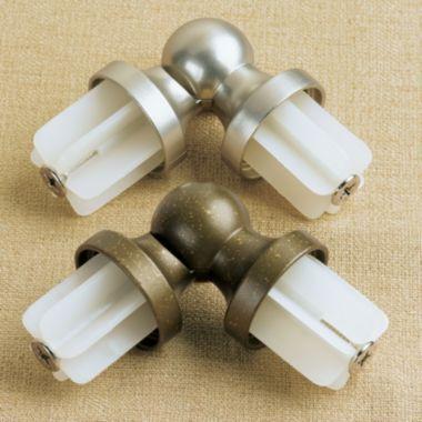 royal velvet® curtain rod corner connector! the royal velvet
