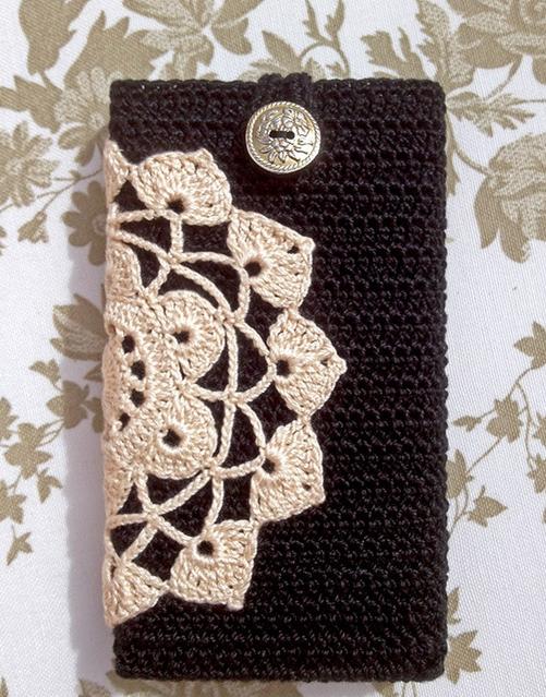Patrones Crochet: Funda de Crochet para Telf Moviles | Cajón de ...