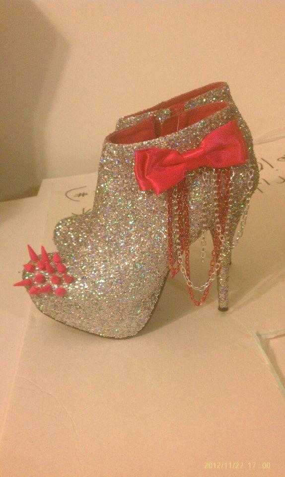 Custom AB Glitter Heel