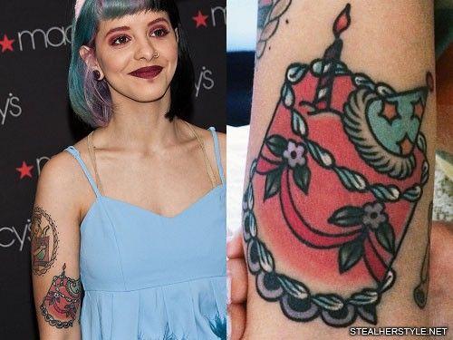Melanie Martinez Cake Tattoo Melanie Martinez Arm Tattoo Upper Arm Tattoos