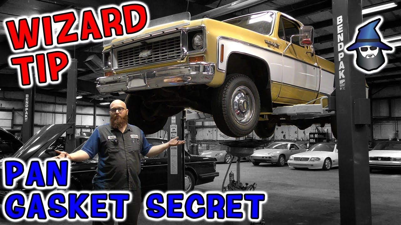 Gasket replacement wizardry! CAR WIZARD replaces a pan