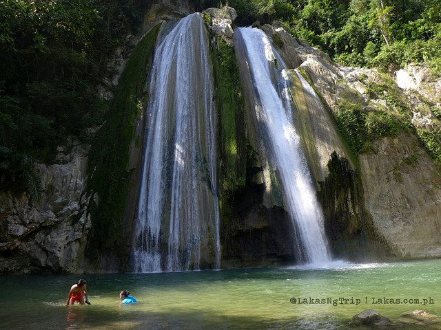 Swimming at the basin of Dodiongan Falls in Iligan City, Lanao del Norte, Philippines