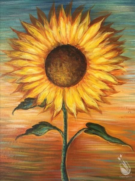 Pick A Painting Invite Your Friends And Enjoy Step By Step Instruction With Our Experienced And Enthusiastic Lo Sunflower Painting Art Painting Sunflower Art