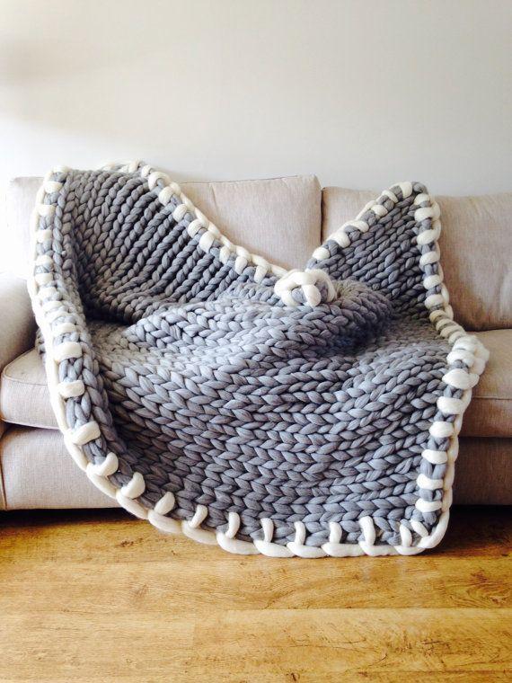 chunky knit werfen riese gestrickte decke von woolcouturecompany ideen pinterest. Black Bedroom Furniture Sets. Home Design Ideas