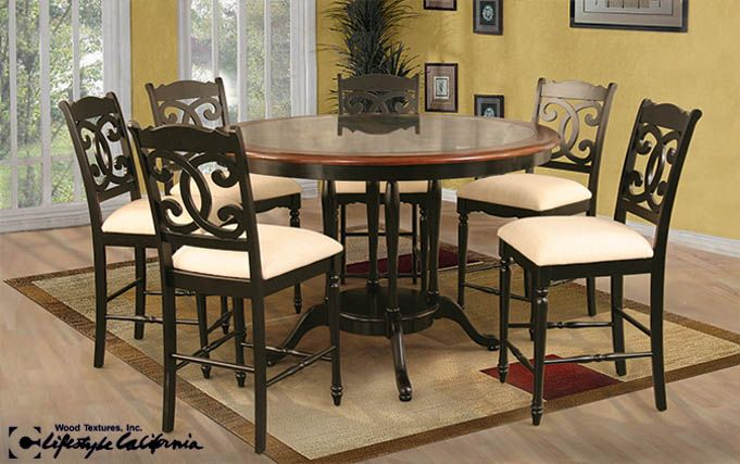 The Coronado Dining Set Features A Glass Table Top Inset In A Solid Wood  Frame With