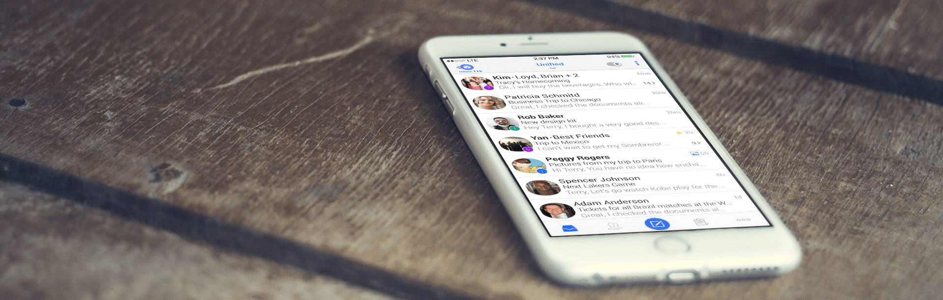At the office, at home, or at the gym; your free email app
