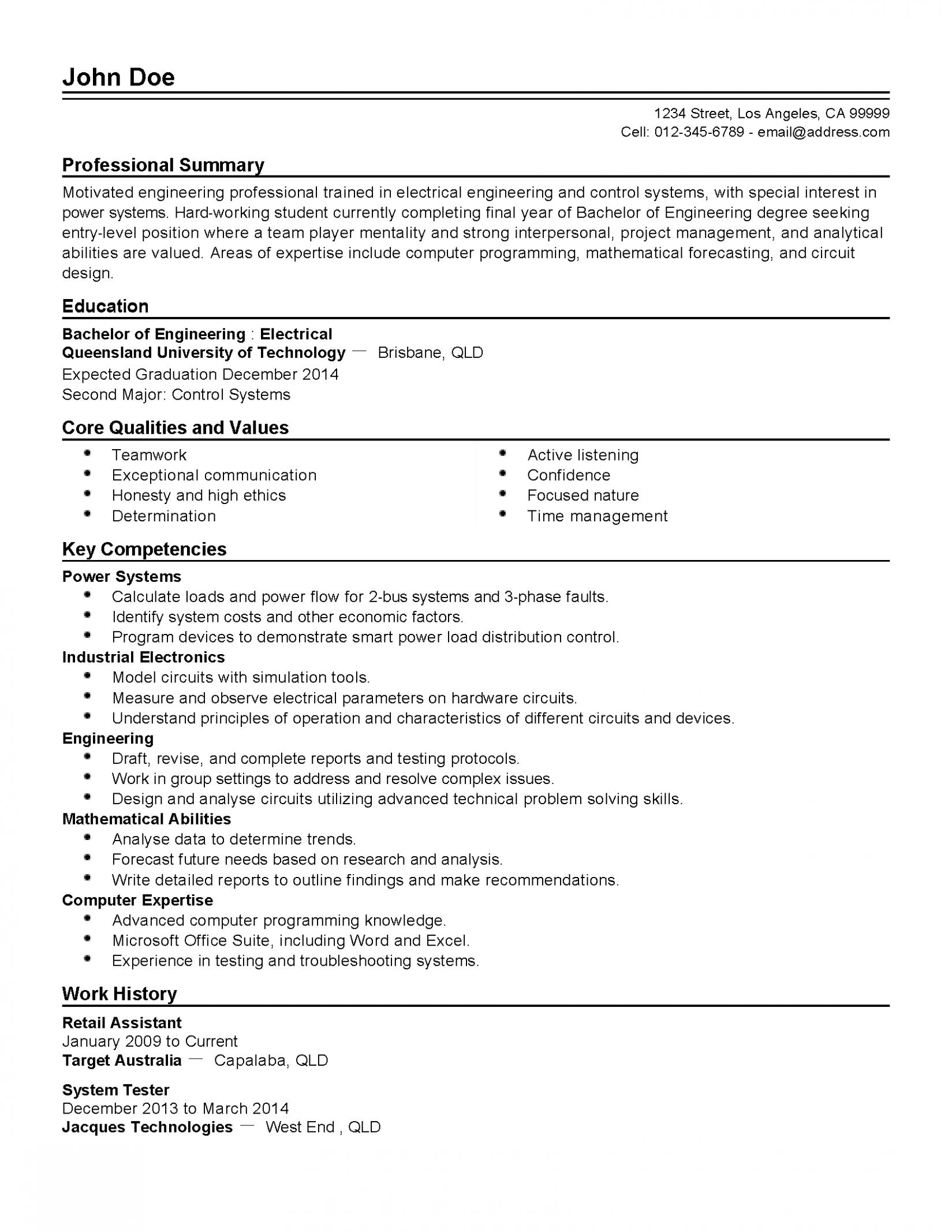 11 Pupil Resume Qld in 2020 Student resume, Job resume