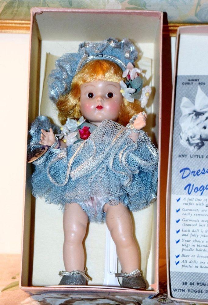 Stunning 1951 Vogue Strung GINNY Frolicking Fables BLUE BALLET nr. Mint-in-Box  #VOGUE #VOGUE1950SSTRUNGHPGINNYDOLL