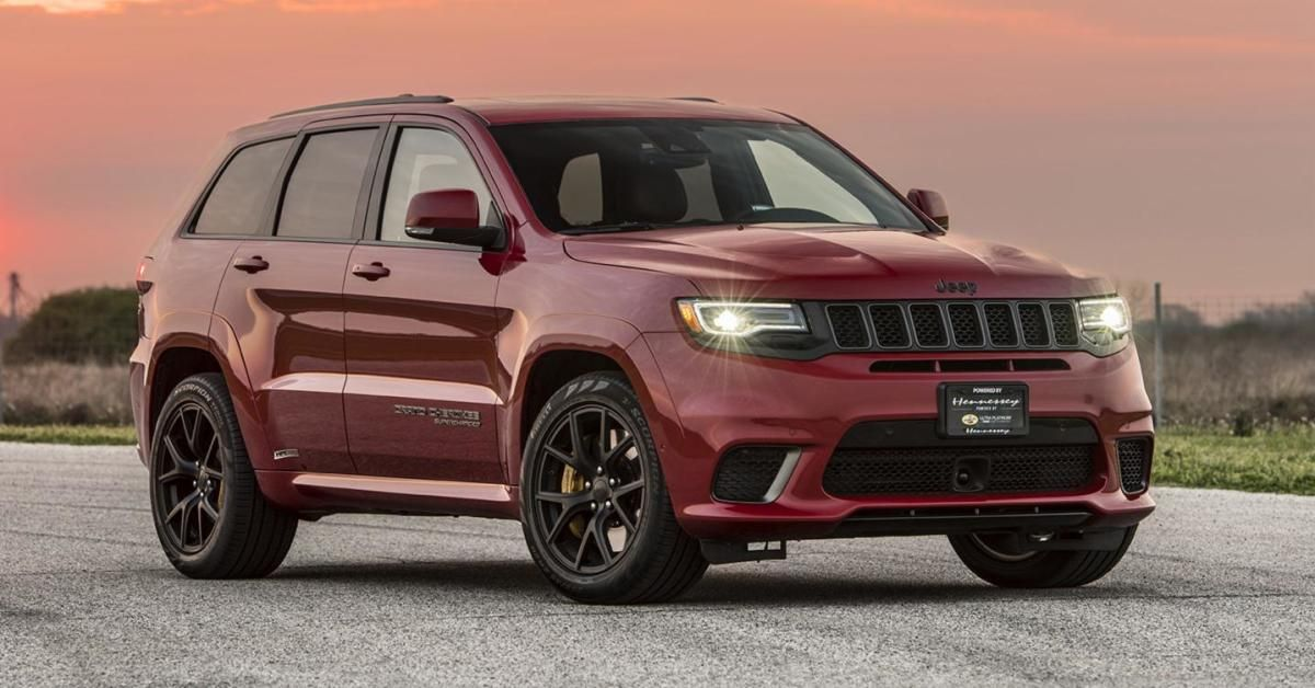 Hennessey Built A 1 000 Hp Jeep Trackhawk And May God Have Mercy On Their Souls Maxim Jeep Grand Cherokee Jeep Grand Jeep Grand Cherokee Srt
