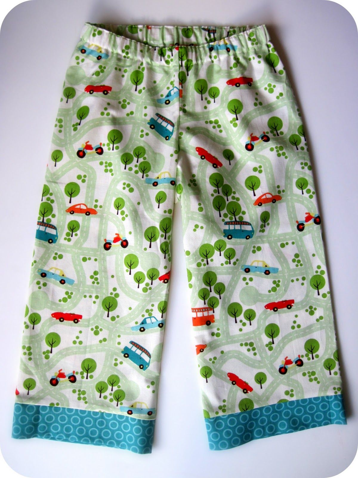 Sewing boy pj bottoms need to make some summer ones:)