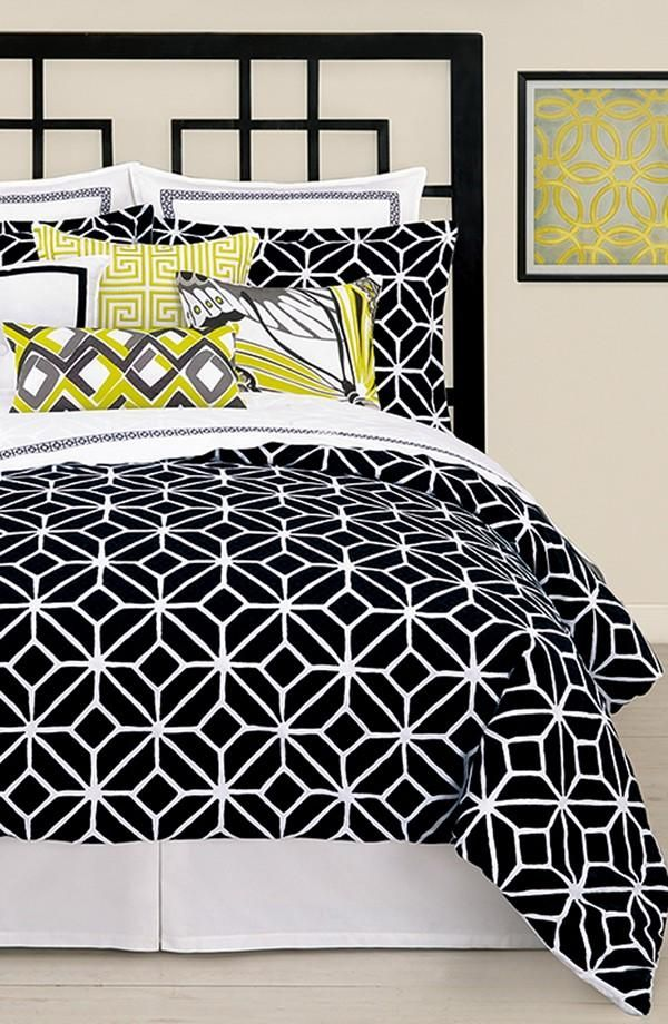 Bold Bedroom Ideas Room Creative Interior Home House Organization Apartment Storage Indoor Modern Black Comforter Black Bedding Black White Bedding