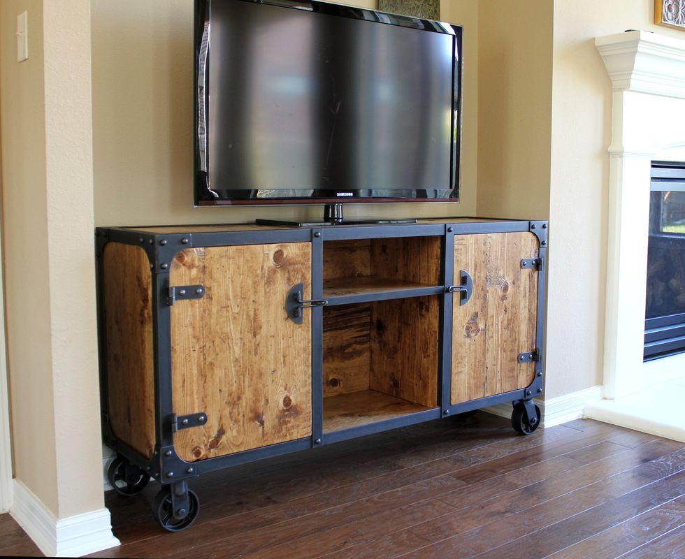 The Vanderbilt Media console - Modern Industrial Furniture ...