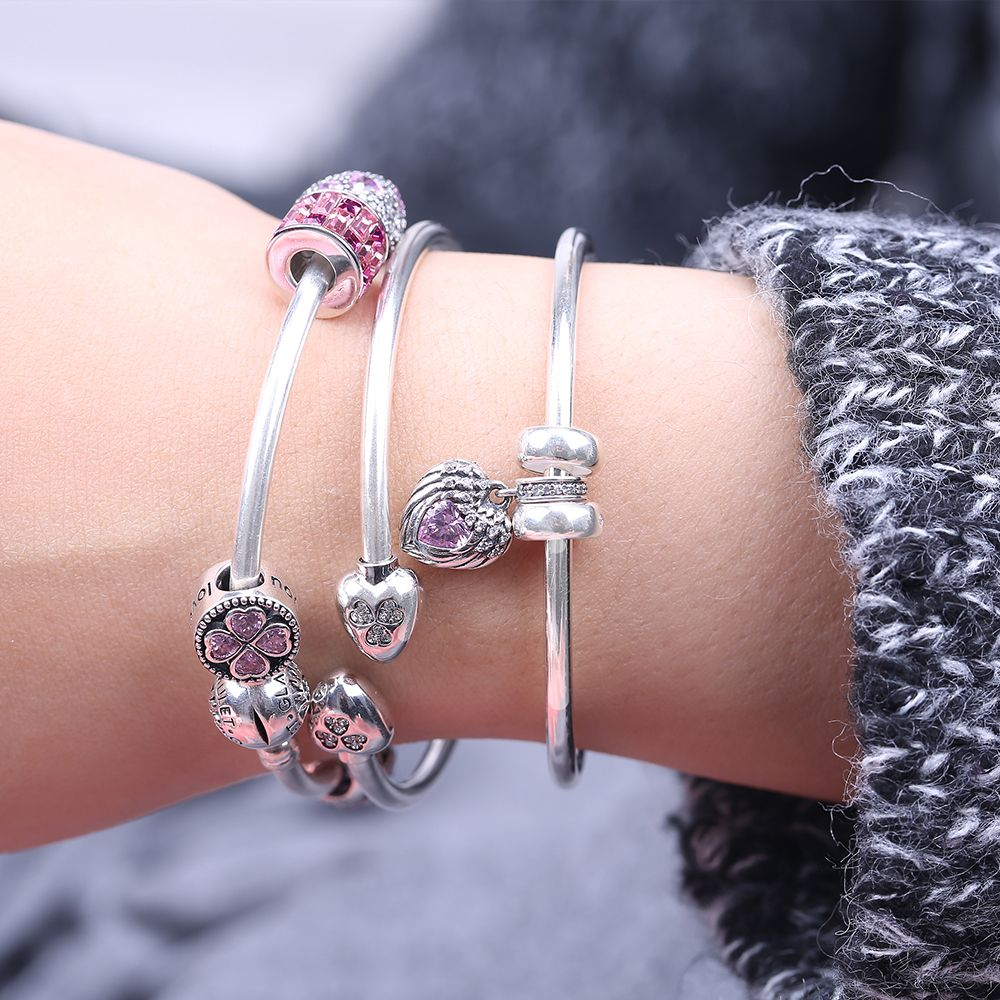 Sterling Silver Round Clip Classic Bracelet. This Glamulet charm ...