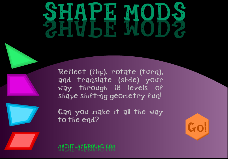 Shape Mods Use Translations Reflections And Rotations To Solve