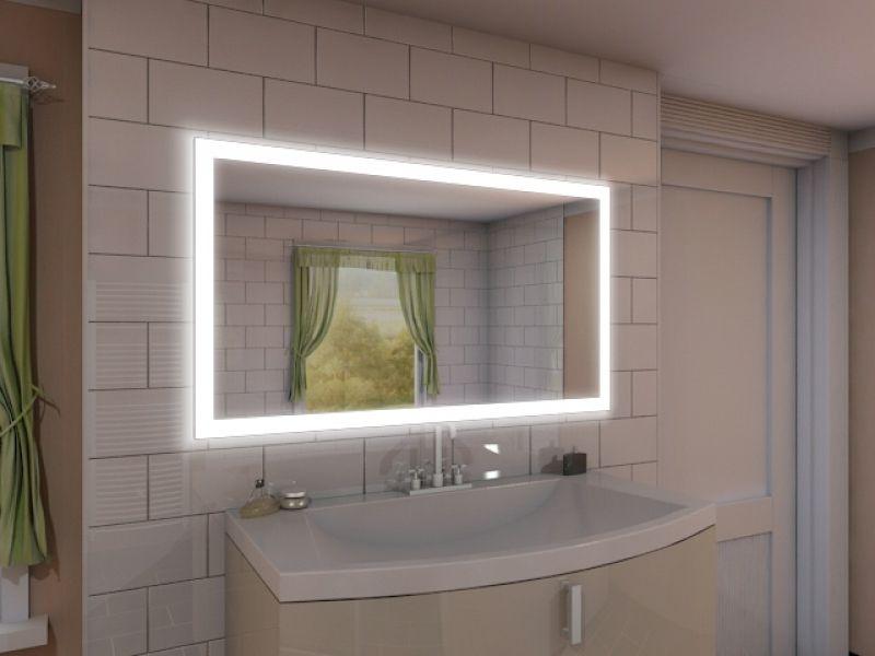 189u20ac 100x80 Badspiegel mit LED Beleuchtung - New York M303L4 - badezimmerspiegel mit licht