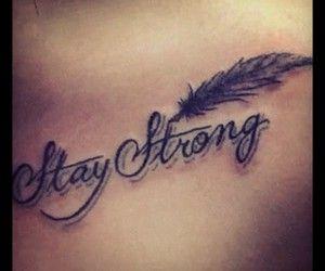 Stay strong .Me voy a hacer este hermoso tatuaje en la muñeca,al igual que mi prima <3