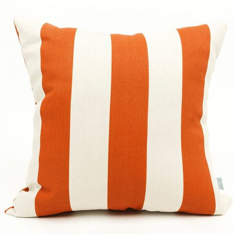 Striped Throw Pillow Clean Orange And White Lines Throwpillows