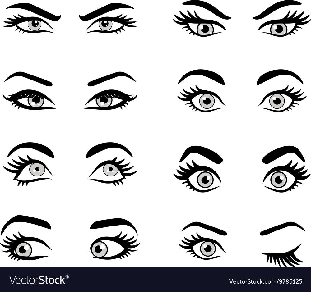 Set Of Cartoon Eyes Isolated Decorative Eyes Icons Vector Illustration Of Woman Eyes Different Eyes Expressions In 2020 Cartoon Eyes Girl Eyes Drawing Eye Drawing
