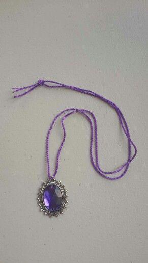 Violeta Azul Glitter Niñas Niños Unicornio Princesa Collar Colgante Regalo de Cumpleaños